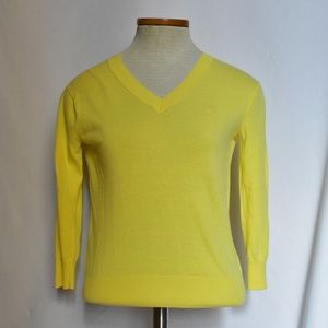 Lilly Pulitzer Yellow Pullover Sweater sz XS